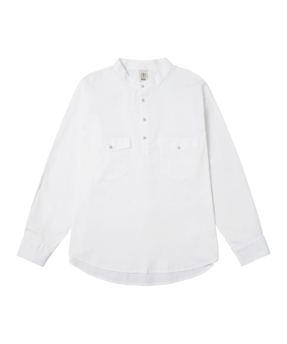 VS-158 Pullover Pocket Shirts_WH